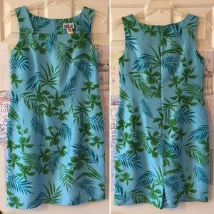 Silk Palm Print Dress